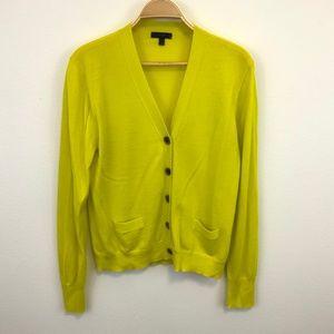 J. Crew 100% Merino Wool Mustard Button Cardigan